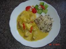 Fleisch : Currygeschnetzeltes mit Ananas - Rezept