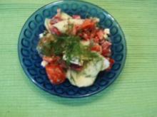 Gurken-Paprika-Tomatensalat - Rezept