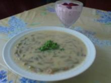 Kartoffelsuppe mit Schneidebohnen - Rezept