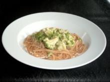 Spaghetti mit Broccoli-Käse-Sahne-Sauce - Rezept