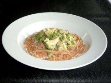 Rezept: Spaghetti mit Broccoli-Käse-Sahne-Sauce