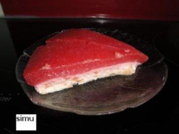 Erdbeer-Rhabarber-Quarktorte - Rezept