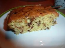 Kuchen: Blechkuchen mit Schokoraspeln - Rezept