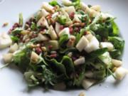 Grüner Salat mit Schinken & Pinienkernen - Rezept