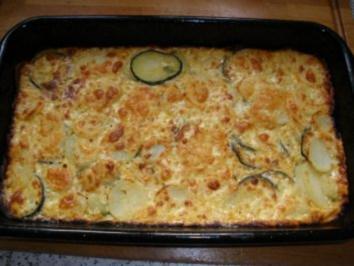 Auflauf/Gratin - Kartoffel - Zucchini - Gratin - Rezept