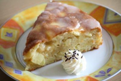 Apfelkuchen mit Zitronenguss - Rezept