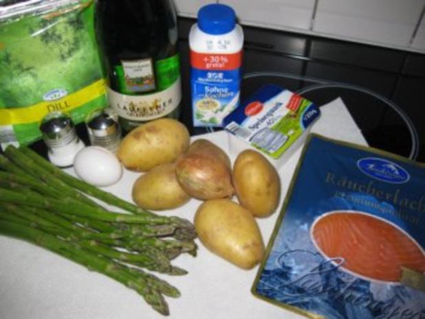 ♥  Kartoffelpuffer mit Spargel-Lachs-Ragout  ♥  Bilder sind ON ! - Rezept - Bild Nr. 2