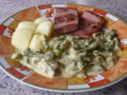 Gemüse: Grüner Spargel in Zitronen-Sahnesoße - Rezept