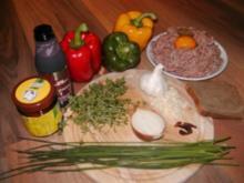 scharf gefüllte paprikaschoten - Rezept