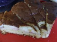 Rhabarber-Apfel-Kuchen mit Eierschecke - Rezept