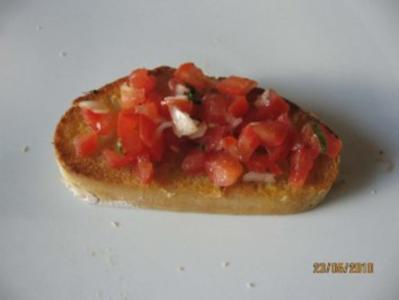 Bruschetta mit Tomaten - Rezept