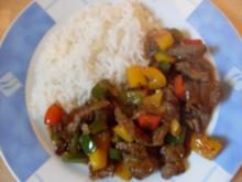 Paprika-Pfanne mit Steakstreifen - Rezept