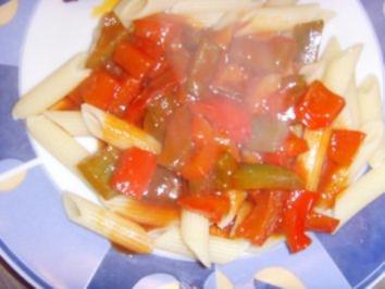 Paprika-Gemüse in Tomaten-Teriyaki-Soße - Rezept