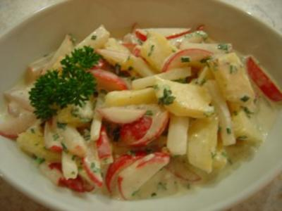 Radieschen-Ananas-Salat - Rezept