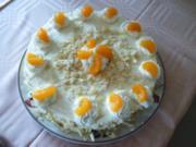 Quark-Sahne-Torte mit Mandarinen - Rezept