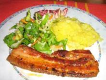 Bauchspeck vom Grill mit Kartoffelsalat - Rezept