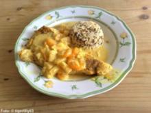 Putenschnitzel in Curry-Fruchtsauce - Rezept