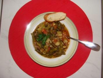 Eintopf - Grüne Bohnen Gemüseeintopf - - Rezept
