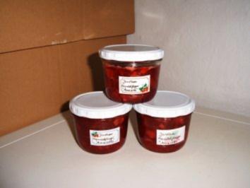 Erdbeer- gehobelte Mandeln- Amaretto Marmelade - Rezept