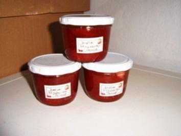 Rezept: Erdbeer- Rhabarber- Pernod- Marmelade