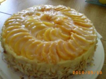 Torten: Pfirsich-Pudding-Torte - Rezept