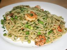 Spaghetti aglio e olio mit Garnelen - Rezept