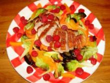 Entenbrust auf fruchtigem Himbeer-Möhren-Salat - Rezept
