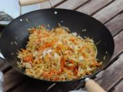 Reis mit Weißkraut und Karotten - Rezept