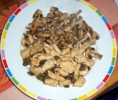 Geschnetzeltes mit Pilzgemüse - Rezept