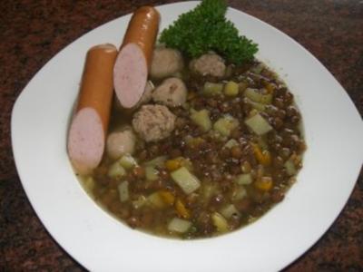 Suppe:   LINSENSUPPE - Rezept
