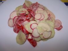 Gurken-Tomaten-Radieschen-Salat - Rezept