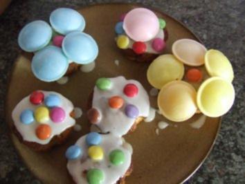 Muffins mit Brausepulver-Kick und Smarties - Rezept