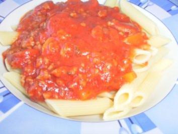 Meine kunterbunte Pasta-Soße - Rezept