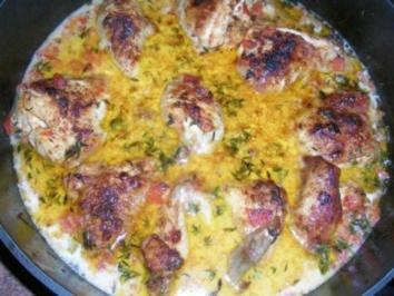 Huhn in Wermutsahne (Pollo alla panna) es schmeckt einfach genial und lecker - Rezept