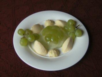 Weingelee und weiße Schokoladen - Grappa - Mousse - Rezept