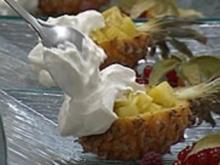 Ananas mit Rum und Vanille-Sahne - Rezept - Bild Nr. 9
