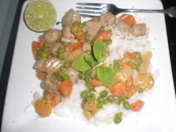 Junges Gemüse mit feinen Klösschen - Rezept