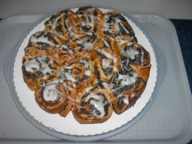 Mohn - Pudding - Schnecken - Rezept