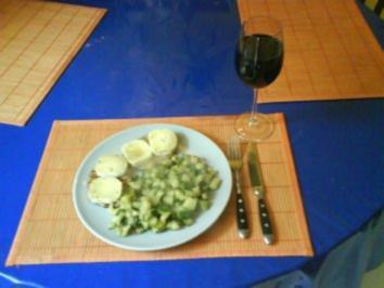 Rezept: Fleisch: Minutensteak mit Zucchinigemüse
