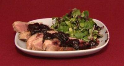 Entenbrust auf Trauben und Weinsoße (Michelle Leonard) - Rezept