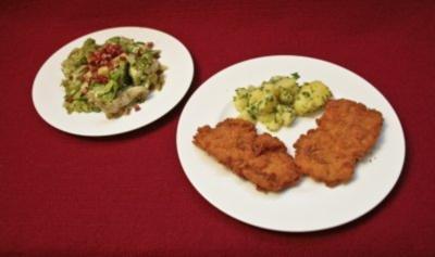 Wiener Schnitzel mit Petersilienkartoffeln und Kernöl-Salat (Sandra Thier) - Rezept