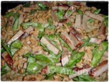 Hauptgericht deftig - Schlemmerpfanne mit Leberkäse und Spätzle - Rezept