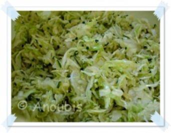 Salat - Spitzkohl-Zucchini-Salat - Rezept