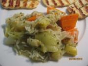 Türkischer Reistopf mit Lauch & Möhren (Zeytinyagli Pirasa) - Rezept