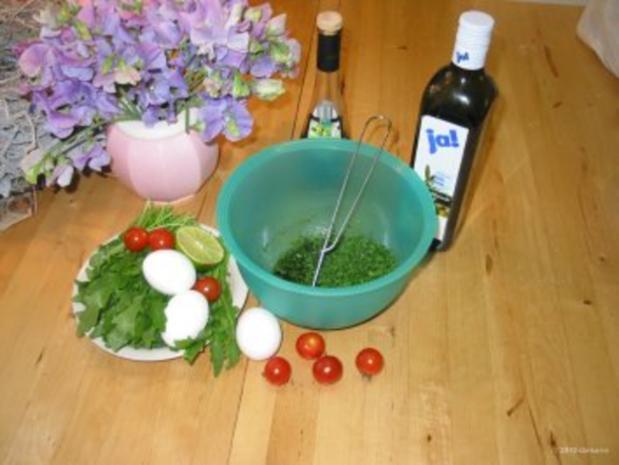 Sommerlicher Schnittlauch Raukesalat - Rezept - Bild Nr. 2