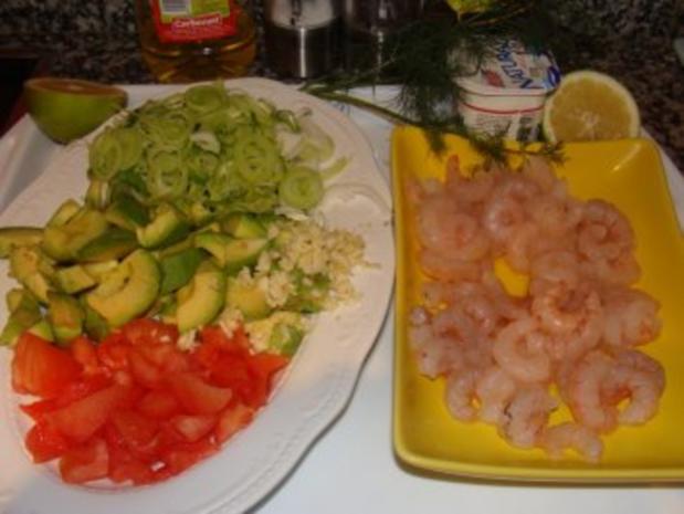 Nudeln :  -Mein Guacamole-Shrimps-Nudelsalat - Rezept - Bild Nr. 3