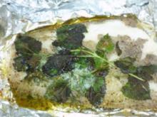 Kräuterheilbutt trifft Gemüseschiffchen - Rezept