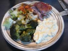 Geflügel - Putenschenkel mit Ofengebackenes  Gemüse  und  Remulade - Rezept