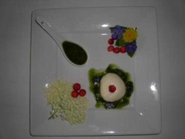 Holunder Blüten Mousse mit Minz Pesto - Rezept - Bild Nr. 5