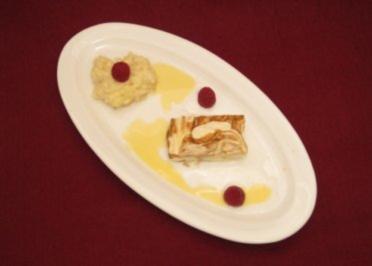 Grieß-Krohn-Bällchen an Zimtparfait - Rezept
